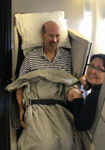 Patient transfer by BA business class .