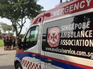 Ambulance in Singapore.