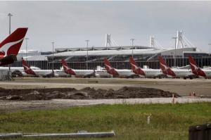 Qantas terminal, Sydney airport.