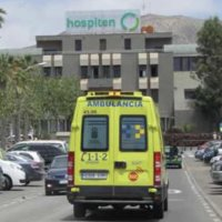 Ambulance for the air ambulance transfer from Hospital Tenerife to the UK