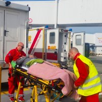 Expert handling of our stretcher repatriation patient.