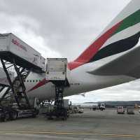Triple high lifts on the Emirates Airbus 380.