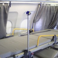 Stretcher on a commercial flight