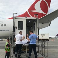 Highlift boarding in Istanbul. Stretcher repatriation.